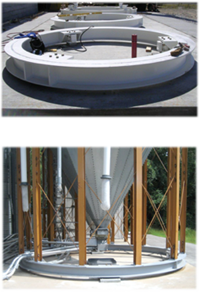 Tanks Mounted on Eagle Load Ring™ Inventory Weigh Scale Systems